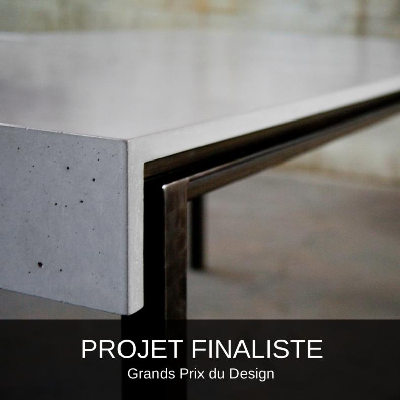 table-mobilier sur mesure-architecture-design interieur-béton-acier-salle à dîner-c3studio-mario painchaud